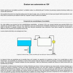 Le Trafic aménagé d'Olivier Collonge - Physique : Evaluer son autonomie en 12V
