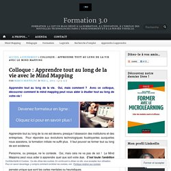 Colloque : Apprendre tout au long de la vie avec le Mind Mapping – Formation 3.0