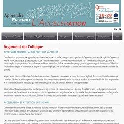 Colloque Autoformation Angers 2016 I A propos du colloque
