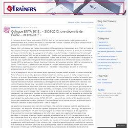 2002-2012, une décennie de FOAD… et ensuite ?