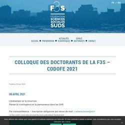 F3S - Colloque des Doctorants de la F3S - CODOFE 2021