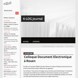 Colloque Document Electronique à Rouen