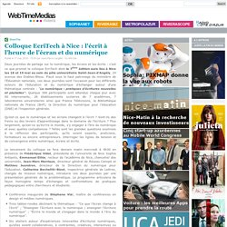 Colloque EcriTech à Nice : l'écrit à l'heure de l'écran et du numérique