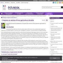 Colloque « Espace et éducation » - L'espace au service d'une agriculture durable