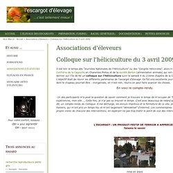 Colloque sur l'héliciculture du 3 avril 2009