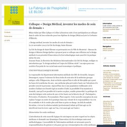 Colloque «Design Médical, inventer les modes de soin de demain