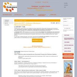 24 janvier 2017 : Colloque à Bordeaux - Mécénat et philanthropie