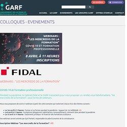 COLLOQUES - EVENEMENTS - GARF