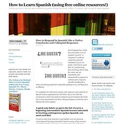 colloquial spanish