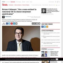 """Bruno Colmant: """"On a sous-estimé la rancoeur de la classe moyenne américaine"""" - Politique Economique"""
