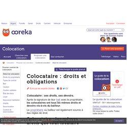 Colocataire : droits et obligations - Ooreka