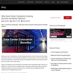 Why Data Center Colocation Is A Better Option? - UniSecure Datacenters Blog