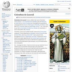 Colomban de Luxeuil