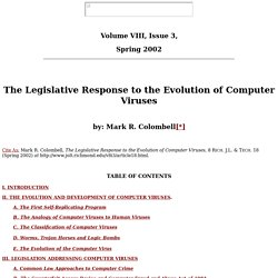 Colombell, Volume VIII Issue 3, Richmond Journal of Law & Technology