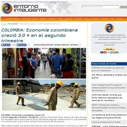 COLOMBIA: Economía colombiana creció 3,0 % en el segundo trimestre