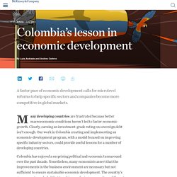 Colombia's lesson in economic development