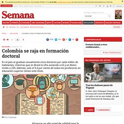 Colombia se raja en formación doctoral