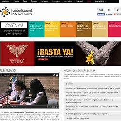 Cátedra - ¡Basta ya! Colombia: Memorias de guerra y dignidad.
