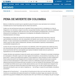 PENA DE MUERTE EN COLOMBIA