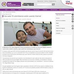 8 de cada 10 colombianos están usando Internet - Ministerio de Tecnologías de la Información y las Comunicaciones