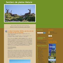 Le Mont Colombier 2045m, par les cols de la Fullie et de la Coch