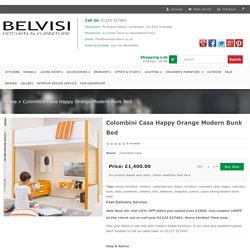 Colombini Casa Happy Orange Modern Bunk Bed