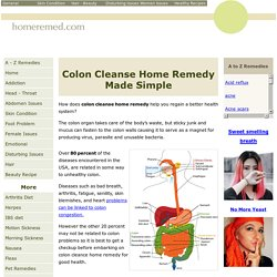 Easy Colon Cleanse Home Remedy