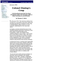 Colonel Dunlap's Coup - 93.01