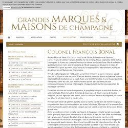 Colonel François Bonal - Union des Maisons de Champagne