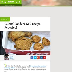 Colonel Sanders' KFC Recipe Revealed! « Wonderment Blog