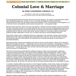 Colonial Love and Marriage