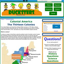 Colonial America for Kids: The Thirteen Colonies