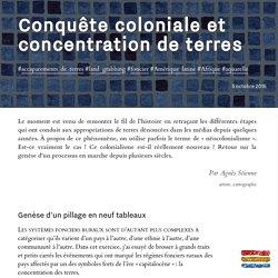 Conquête coloniale et concentration de terres