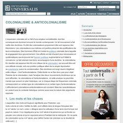COLONIALISME & ANTICOLONIALISME