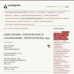 AIMÉ CESAIRE - DISCOURS SUR LE COLONIALISME - TEXTE INTÉGRAL (...) - socialgerie