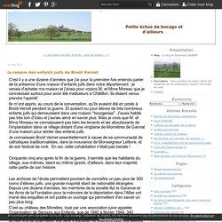 la colonie des enfants juifs de Broût-Vernet - Le blog de Dominique LAURENT