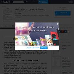 Résumé de la colonie de Marivaux - DOCU - Education