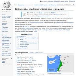 Liste des cités et colonies phéniciennes et puniques
