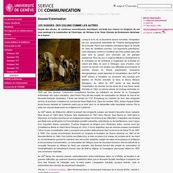 Dossier/Colonisation - SERVICE DE COMMUNICATION