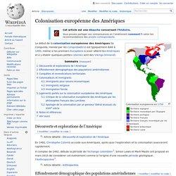 Colonisation européenne des Amériques