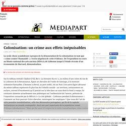 Colonisation: un crime aux effets inépuisables