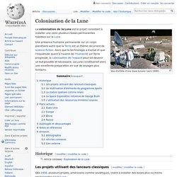 Colonisation de la Lune