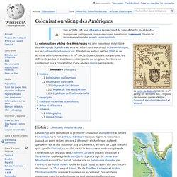 Colonisation viking des Amériques