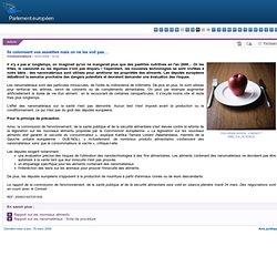 PARLEMENT EUROPEEN 19/03/09 Ils colonisent vos assiettes mais on ne les voit pas… (nanomatériaux)