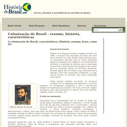 Colonização Do Brasil - Resumo, História, Características