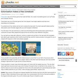 Colonization makes a free comeback » gHacks tech news