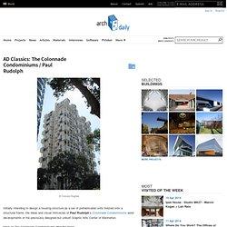 AD Classics: The Colonnade Condominiums / Paul Rudolph