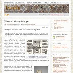 Colonne ionique et design