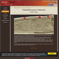 Colonne Trajane 1C - Préparatifs de guerre, ville de Viminacium