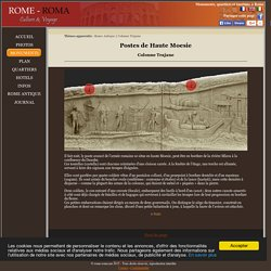 Colonne Trajane - postes avancés romains en haute Moesie